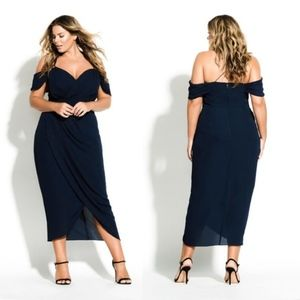 NWOT City Chic | Entwine Maxi Dress Navy S/16